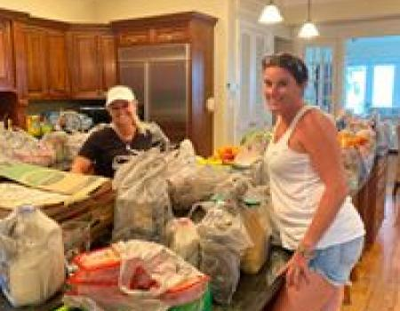 Grocery load in by The Beach Moms