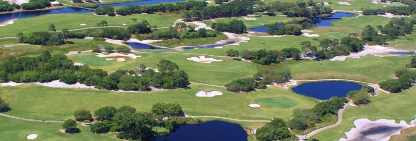 Ariel view of the Kiva Dunes Golf Course