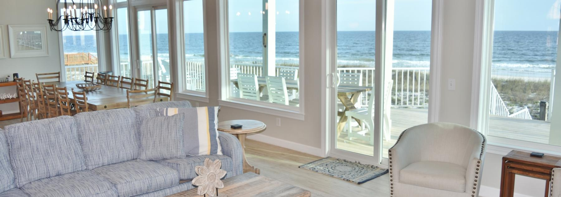 Gulf Shores Beach house view from living room