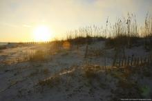 Gulf Shores beach sunset in the winter