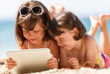 Virtual school or Home school on the Beach