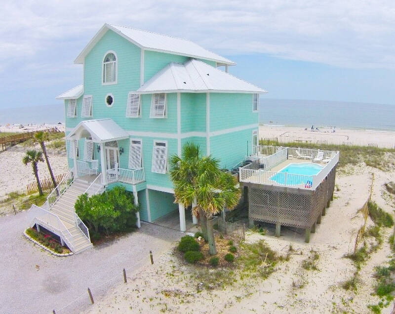 Gulf Shores Beach House with Raised Private Pool