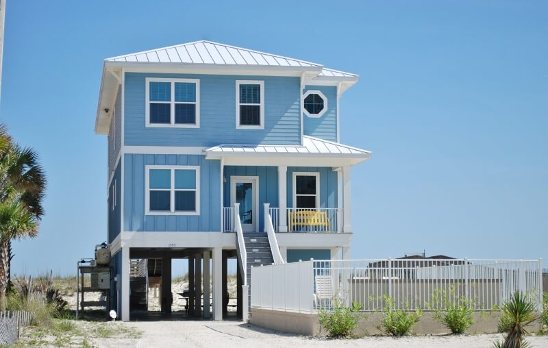 Beach front gulf shores rental with private pool