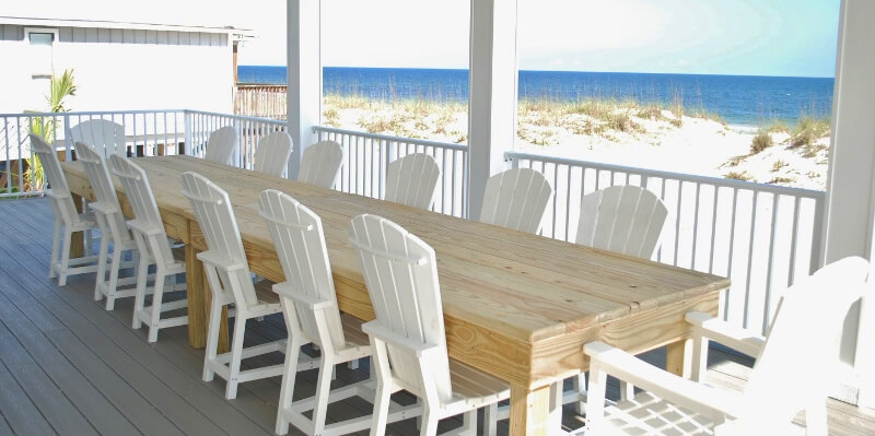 Holiday Dinner on Gulf Shores Deck