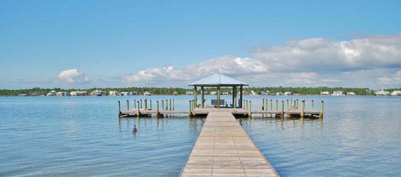 Gulf Shores lagoon pier