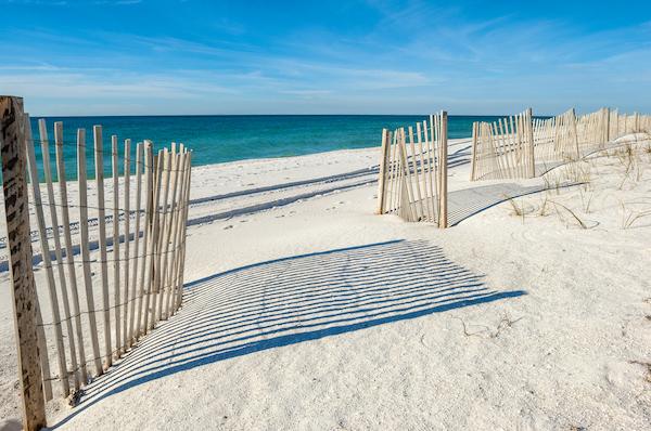 A beach in Gulf Shores