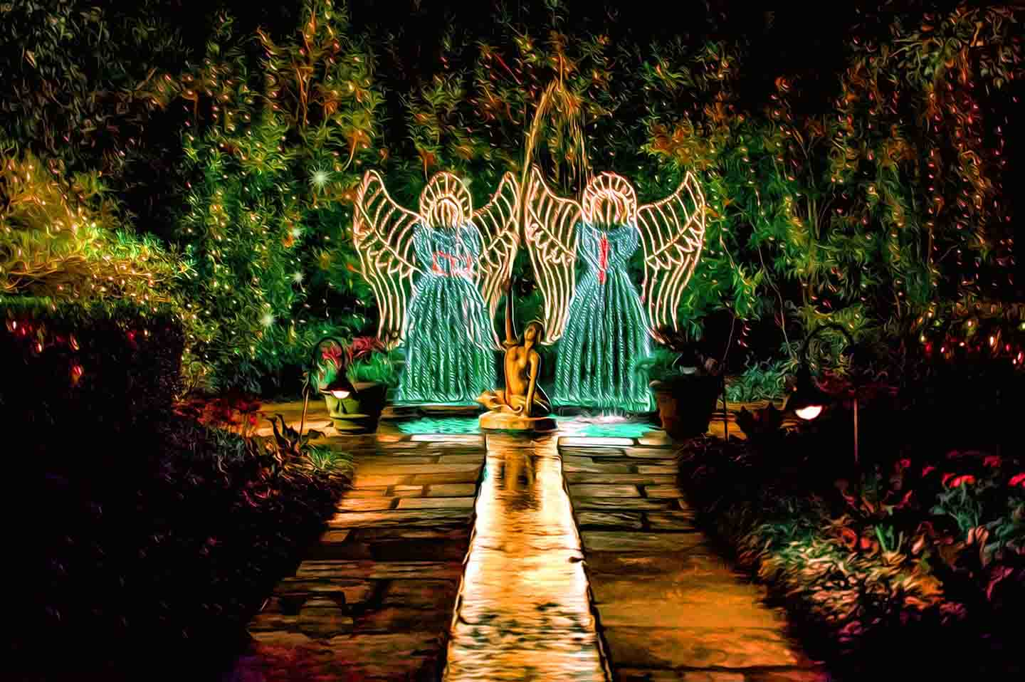 Holiday gardens in Gulf Shores
