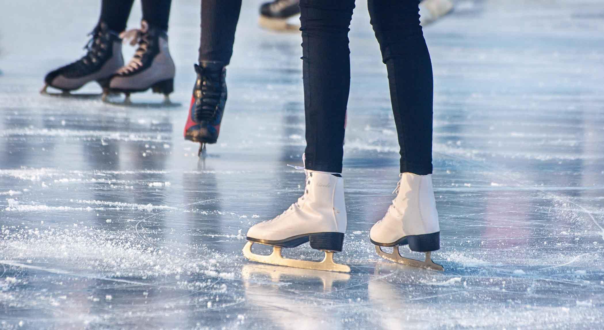 People at an ice skating rink